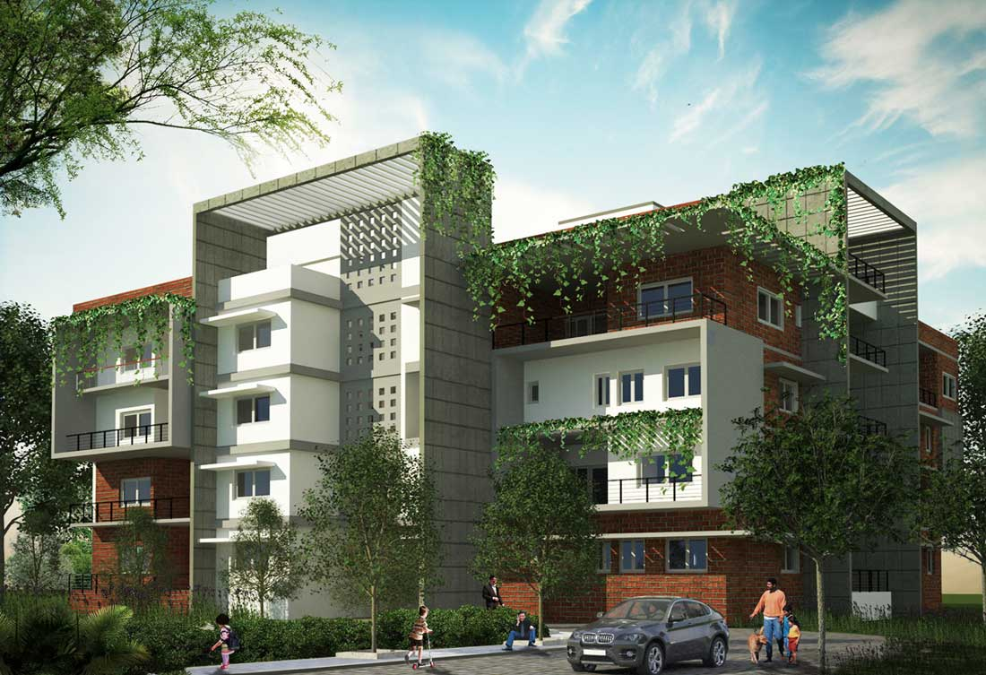 Apartment architecture design top 10 architects for for Architecture design companies in coimbatore