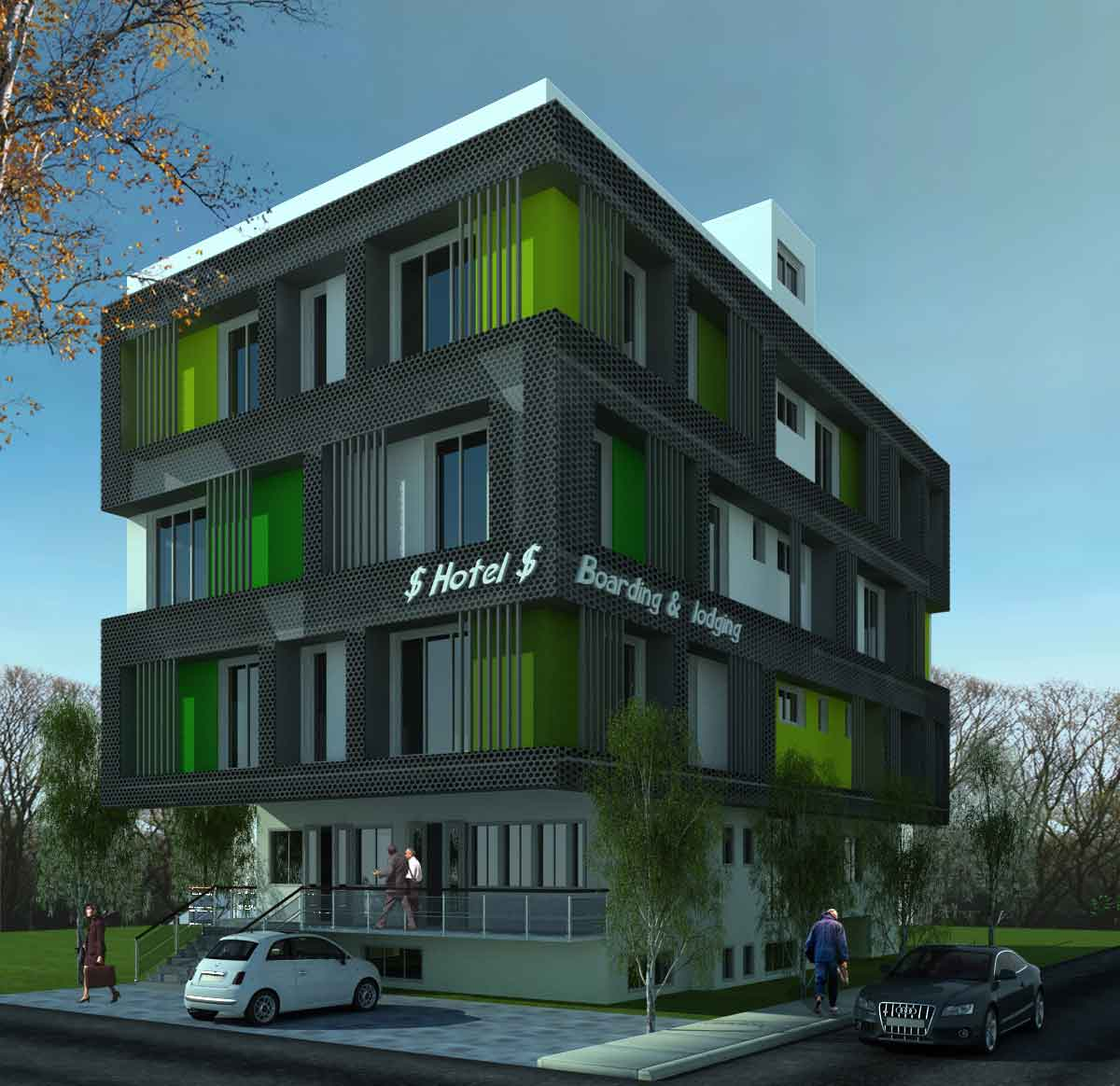 Commercial architecture design hotel 01 thanjavur best for Design hotel chennai contact number