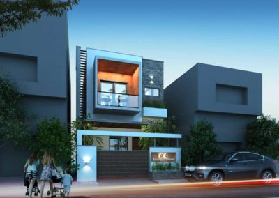 Residence-Architecture-Design-in-Thiruvarur---dlea---Front-side-view