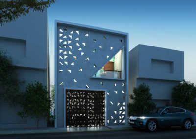 Residence-Architecture-Design-in-Thiruvarur---dlea---Front-view